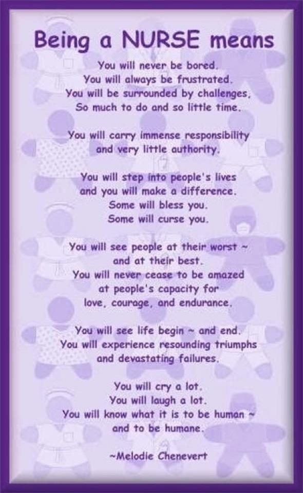 Nurses Appreciation Poem Or Quotes. QuotesGram