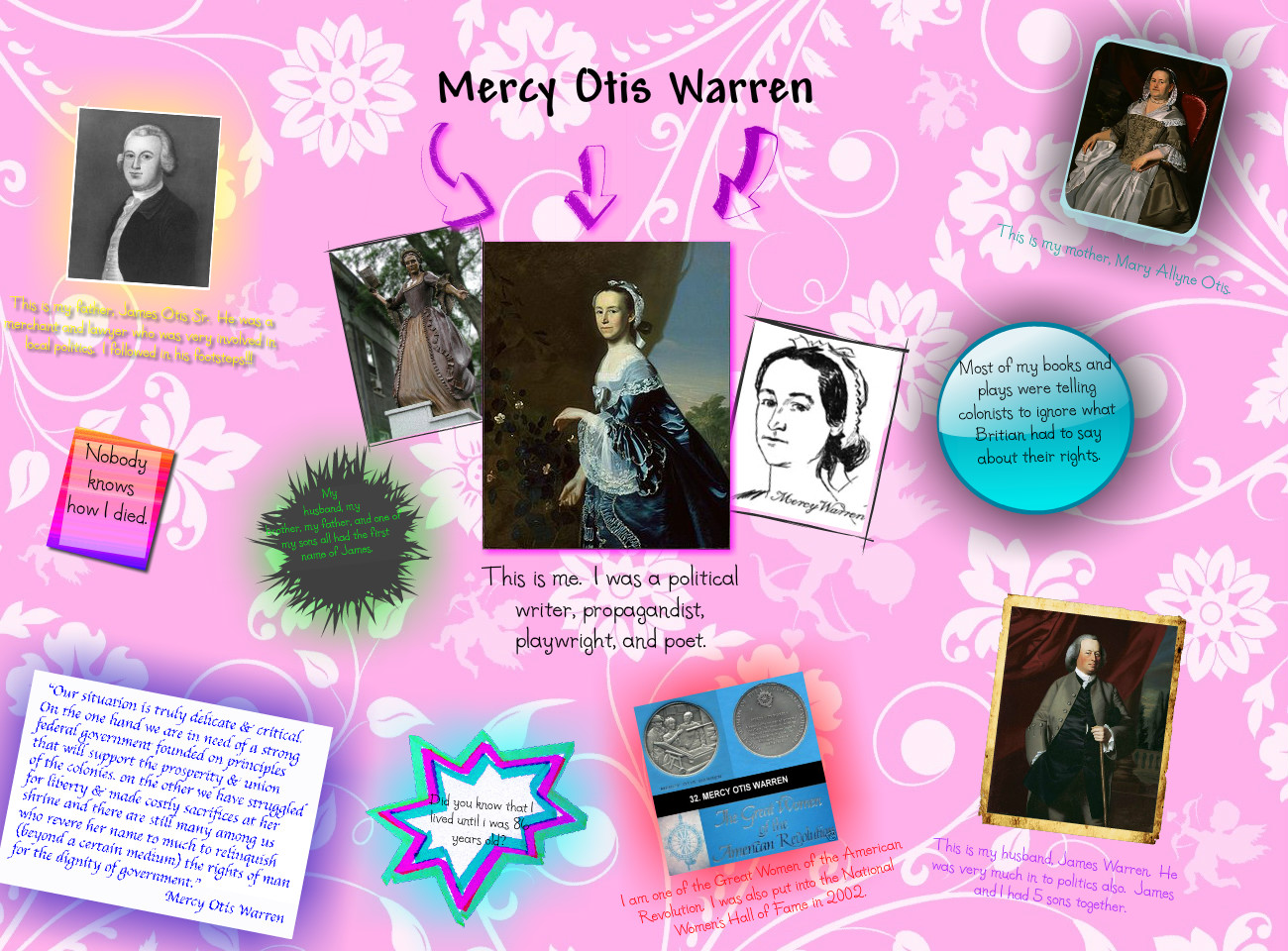 When did mercy otis warren start writing poems for dummies