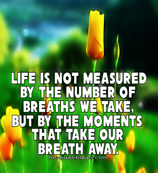 Life Is Not Measured By The Breaths Quote: Breath Of Life Quotes. QuotesGram