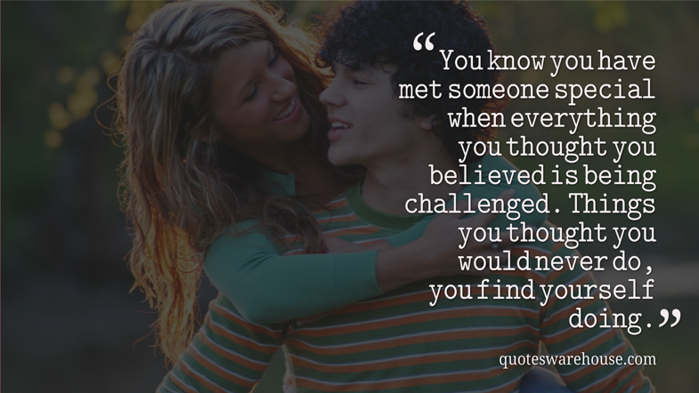 Quotes About Meeting Someone Special. QuotesGram