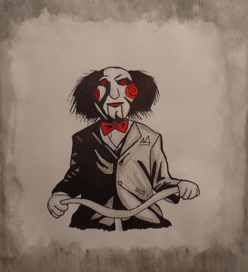 Картинка из пилы клоун