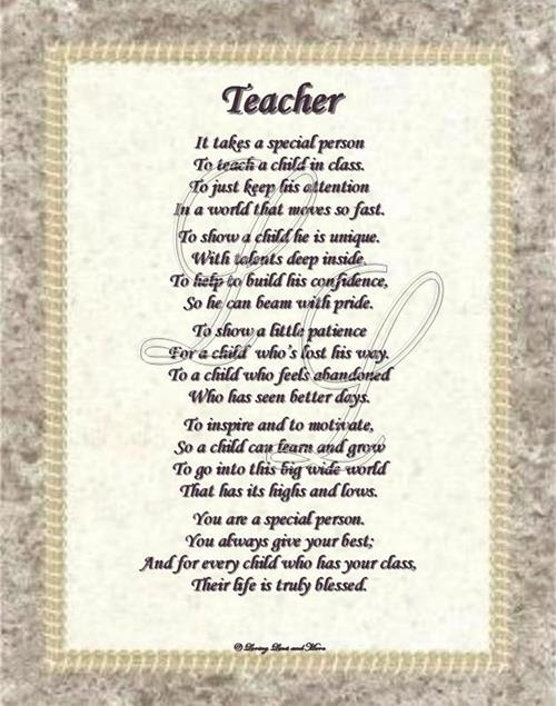 poem teacher On this teachers' day, honor your teachers with the poems are one of the best ways to express your emotions for anyone.