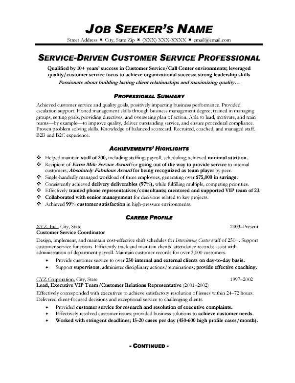 Resume For Customer Service resume samples for customer service Resume Samples For Customer Service
