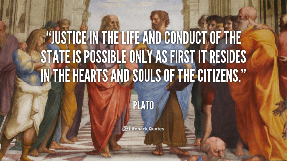 justice in plato As an account of political organization on the larger scale, plato's defense of an aristocratic government was unlikely to win broad approval in democratic athens he used the characters.