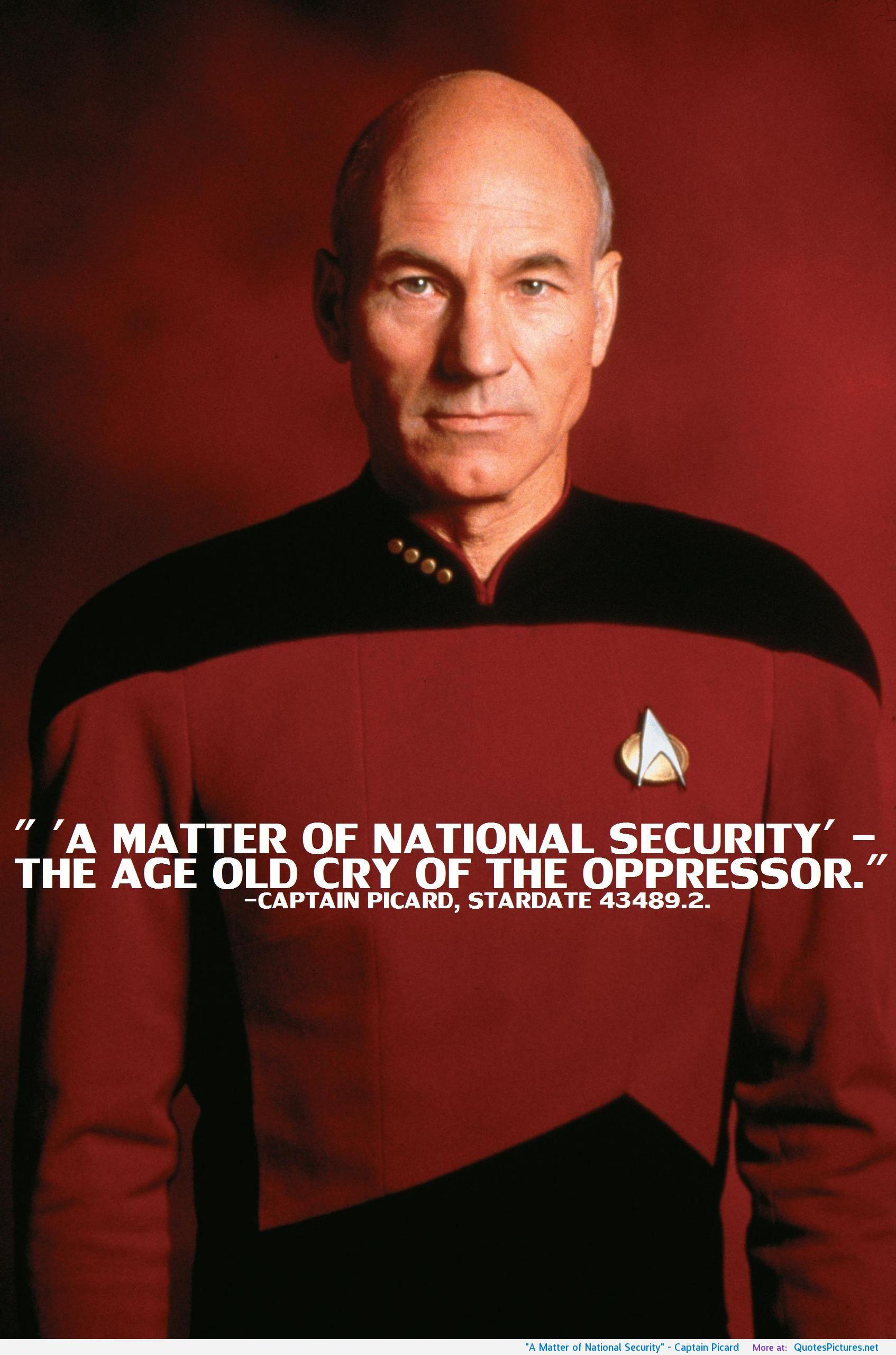 Famous Jean Luc Picard Quotes  Quotesgram