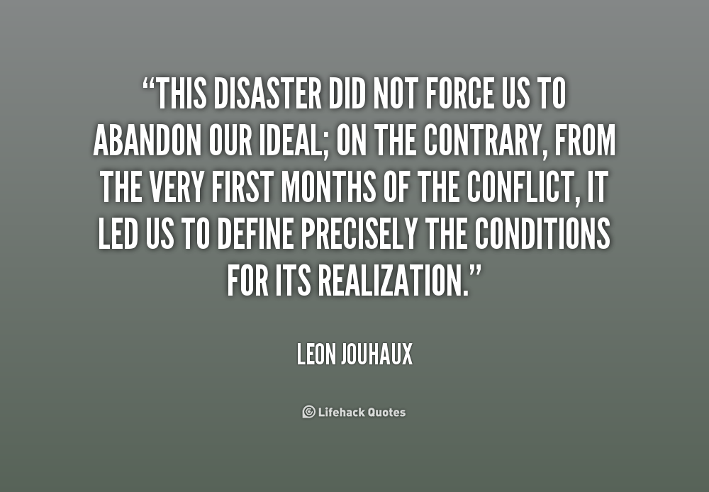 Quotes About Disasters. QuotesGram
