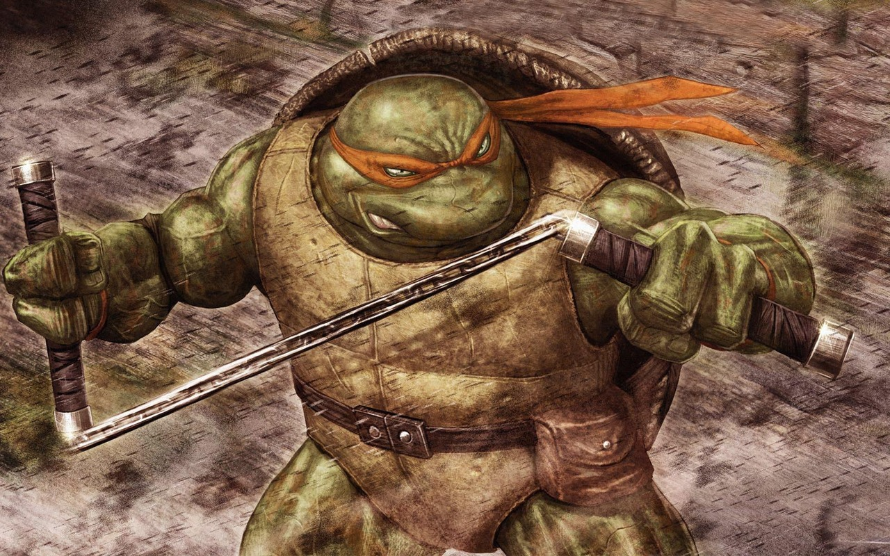 MICHELANGELO IS THE FIRST AND LAST TURTLE