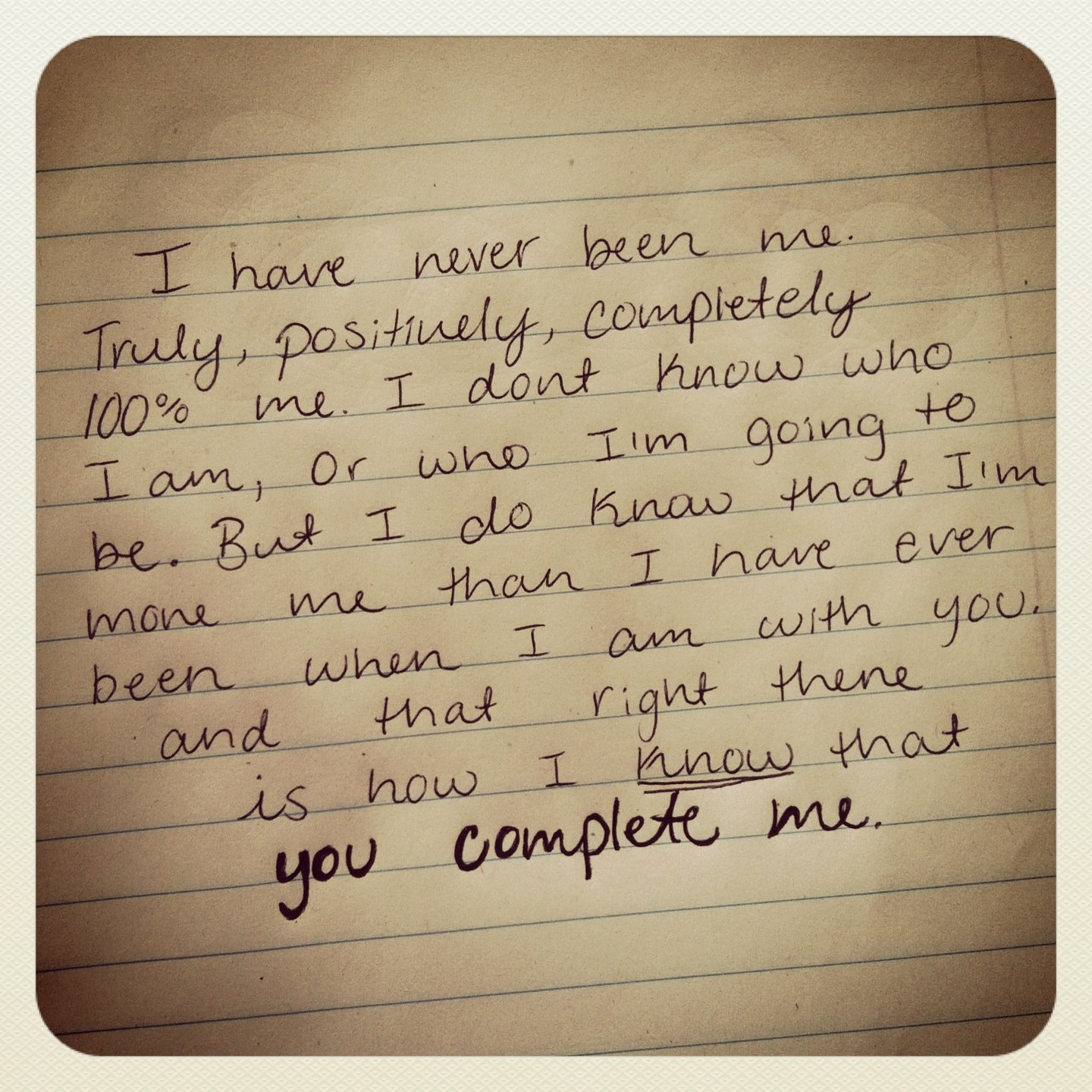 you complete me love quotes quotesgram