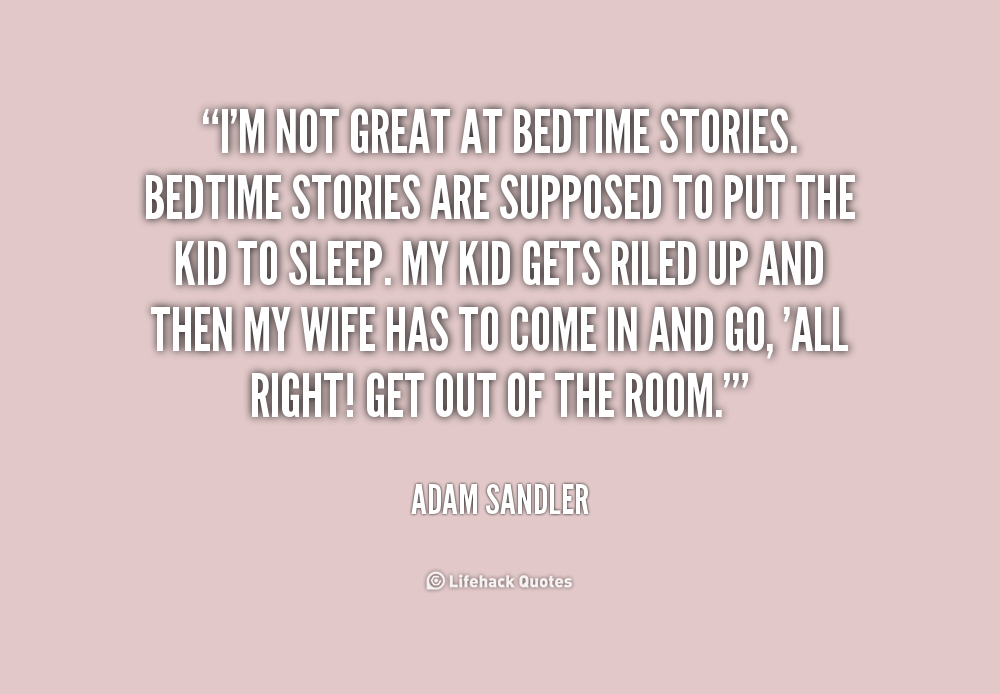 bedtime story for adults