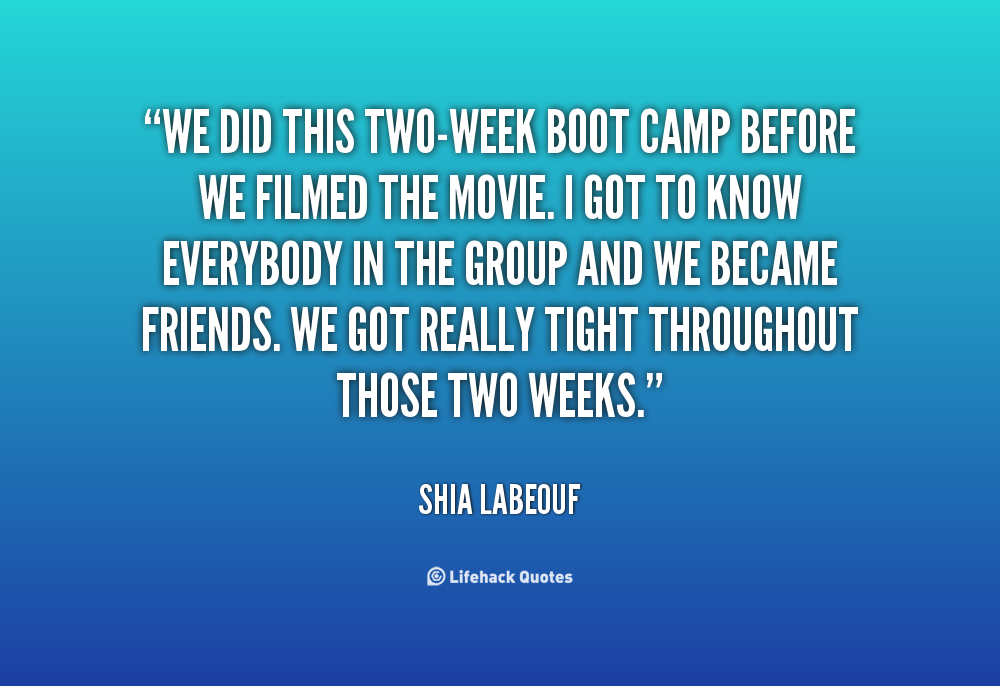 Boot Camp Quotes And Sayings Quotesgram