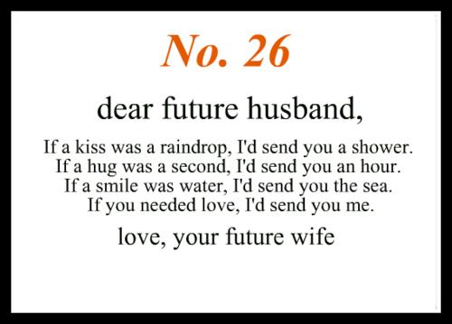 Poems my future husband Future husband