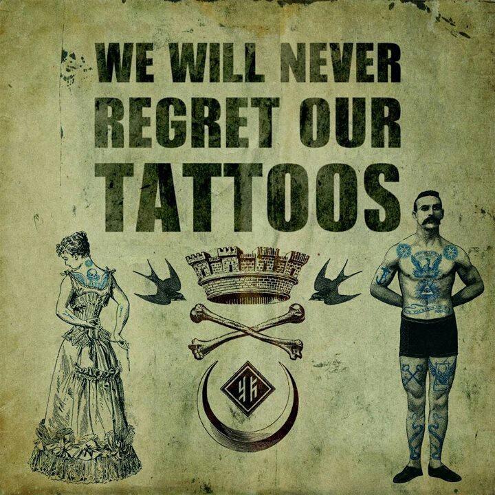 I Regret Tattoo Quotes Quotesgram