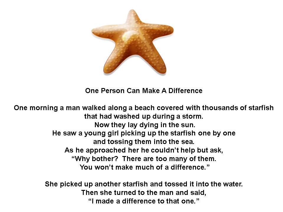 One Person Can Make A Difference Quotes