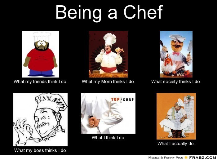 My ambition is become a chef