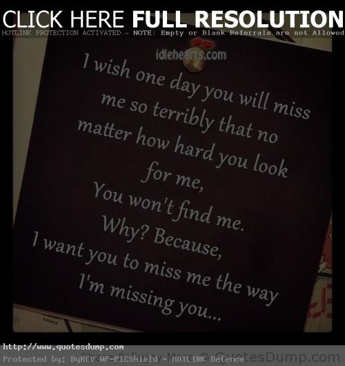 Will Be Missing You Quotes: You Matter To Me Quotes. QuotesGram