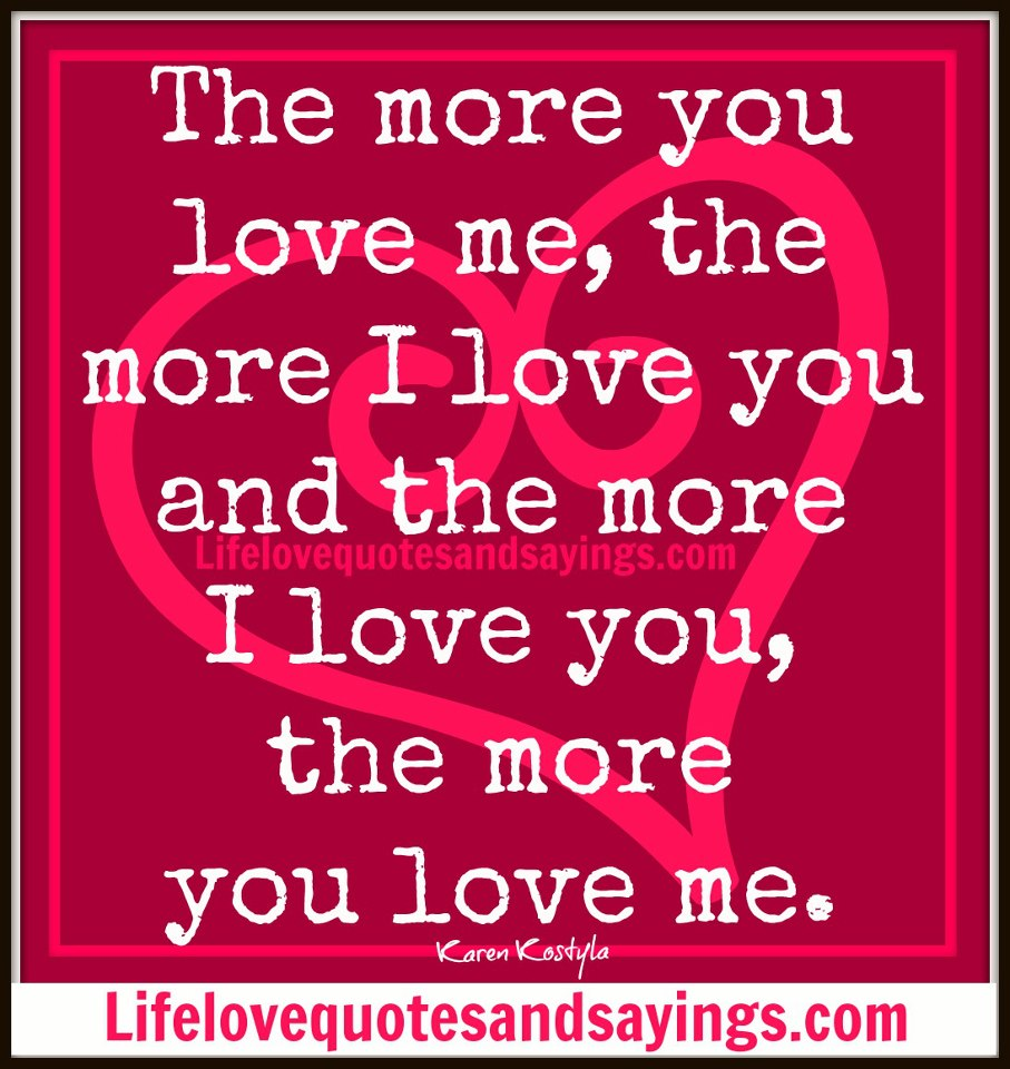 You And Me Love Quotes : Quotes Love You More. QuotesGram