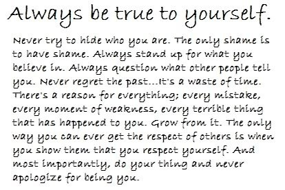 essay on being true to yourself