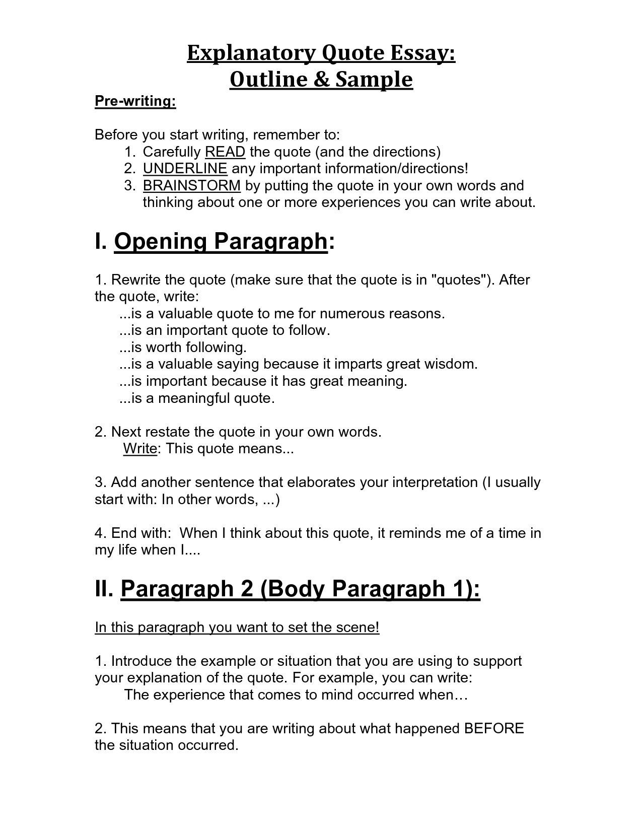 examples of an essay in quotes  quotesgram