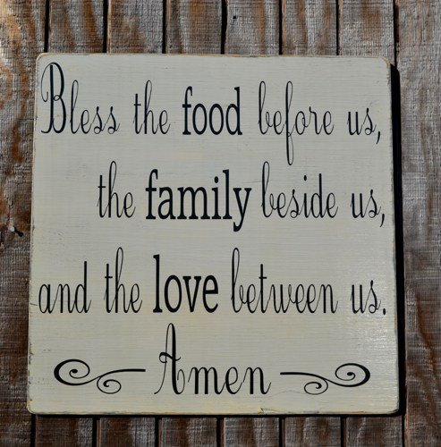 Kitchen religious quotes quotesgram for Fun sayings for dining room wall art