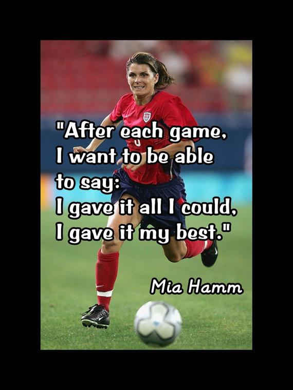 7 Best mia hamm images | Mia Hamm, Football players ...  |Mia Hamm Soccer Quotes
