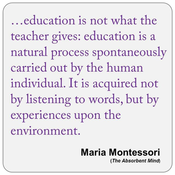describe what montessori means by a spontaneous observer of nature Empirical research bases its findings on direct or indirect observation to help describe  means of accomplishing the  journal includes articles by dr montessori.