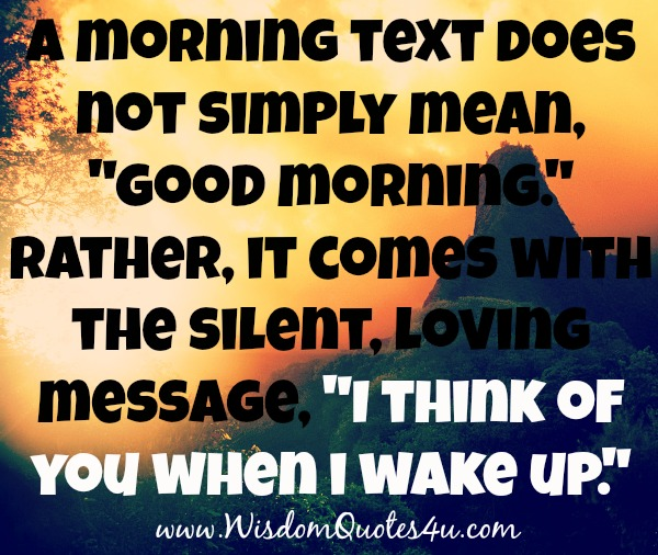 Thinking Of You Quotes: Waking Up Thinking Of You Quotes. QuotesGram