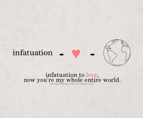 infatuation verses love Love vs infatuation since people tend to think that infatuation is something similar to love, it is very important to understand the difference between love and infatuation the first fact that needs to be understood about love and infatuation is that love and infatuation are two words that differ a lot in.
