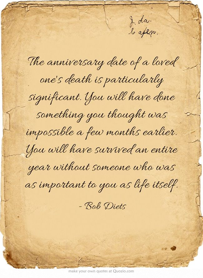 1 Year Anniversary Of Death Quotes. QuotesGram