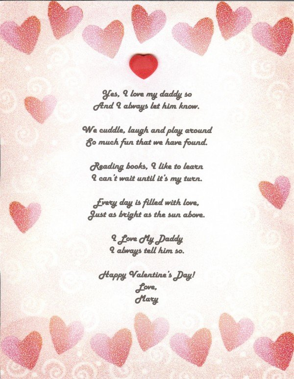 Daughter valentines day from for mother poem Step Daughter