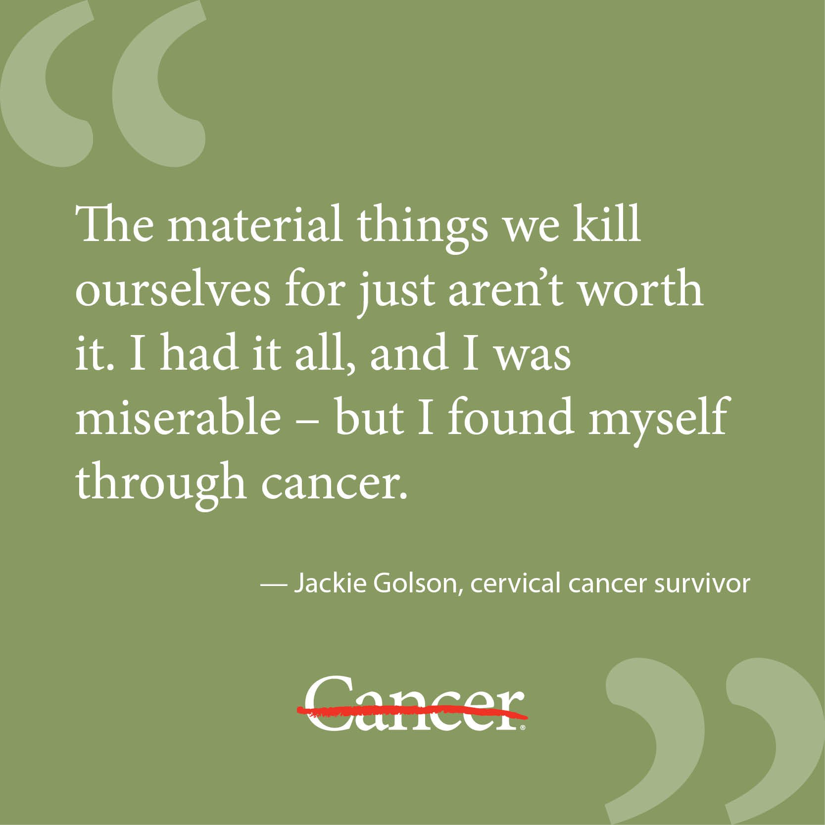 Inspirational Quotes For Cancer Awareness: Funny Quotes About Cervical Cancer. QuotesGram