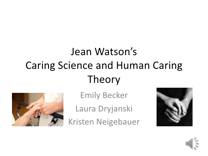 jean watson theory This cited by count includes citations to the following articles in scholar jean watson watson caring jean watson's theory of human caring.