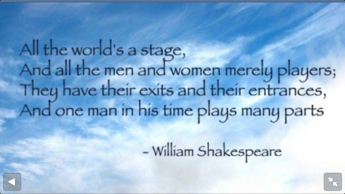 Quotes By Shakespeare About Acting : Shakespeare quotes about theatre quotesgram