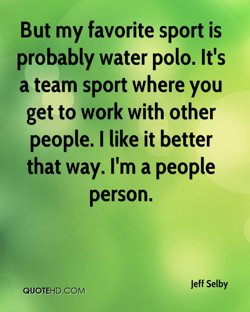 Water Polo Quotes And Sayings. QuotesGram