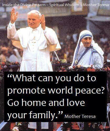 Family Quotes From Mother Teresa. QuotesGram