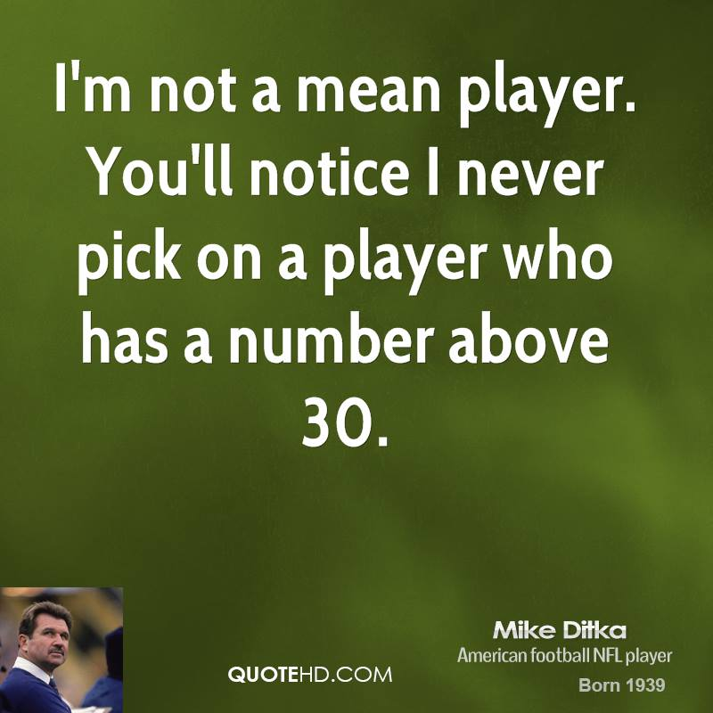 Quotes About People Who Notice: Mean Football Quotes. QuotesGram