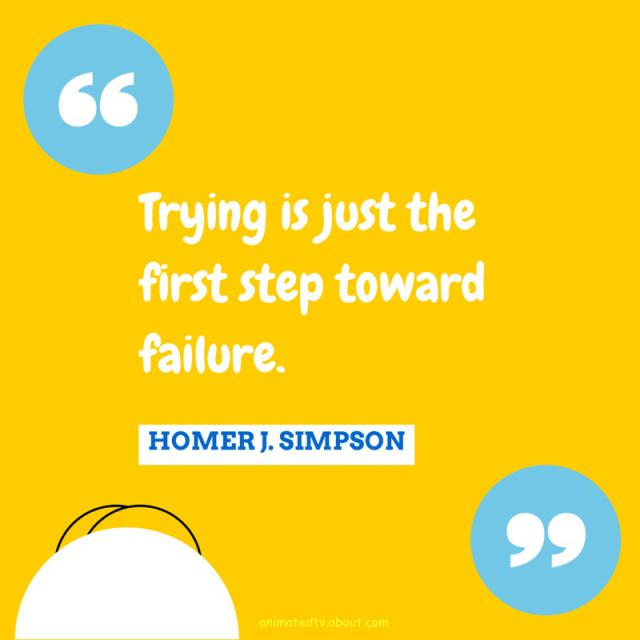 Inspirational Quotes About Failure: Homer Failure Quotes. QuotesGram