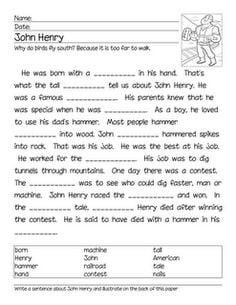 Worksheets John Henry Worksheets collection of john henry worksheets sharebrowse delibertad