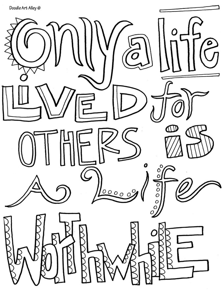 Life Quotes Coloring Pages Printable. QuotesGram