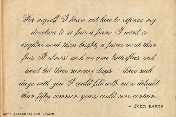 Quotes John Keats Poem. QuotesGram