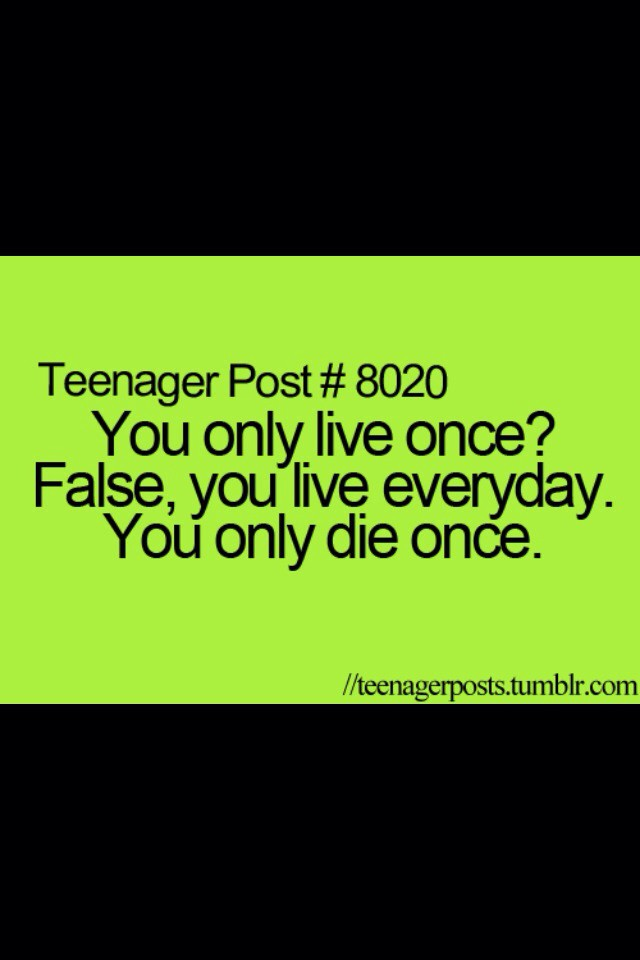 Teenager quote
