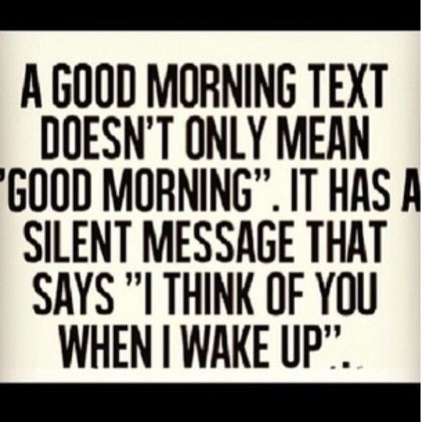 You guy morning when the texts a in When a