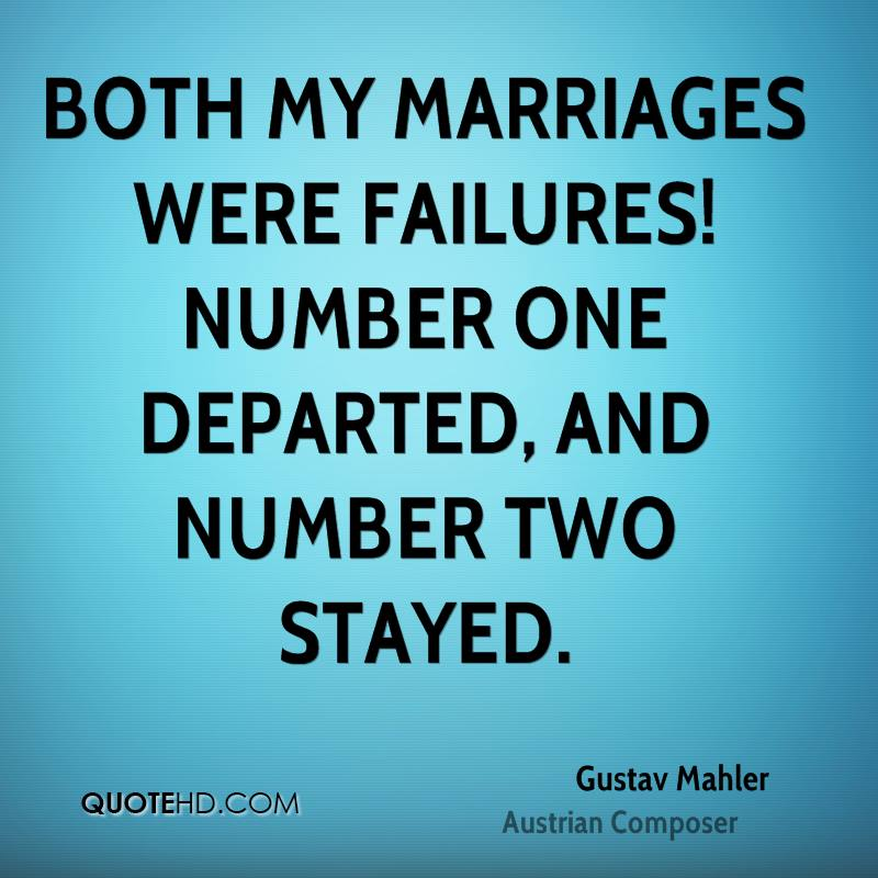 Marriage failures