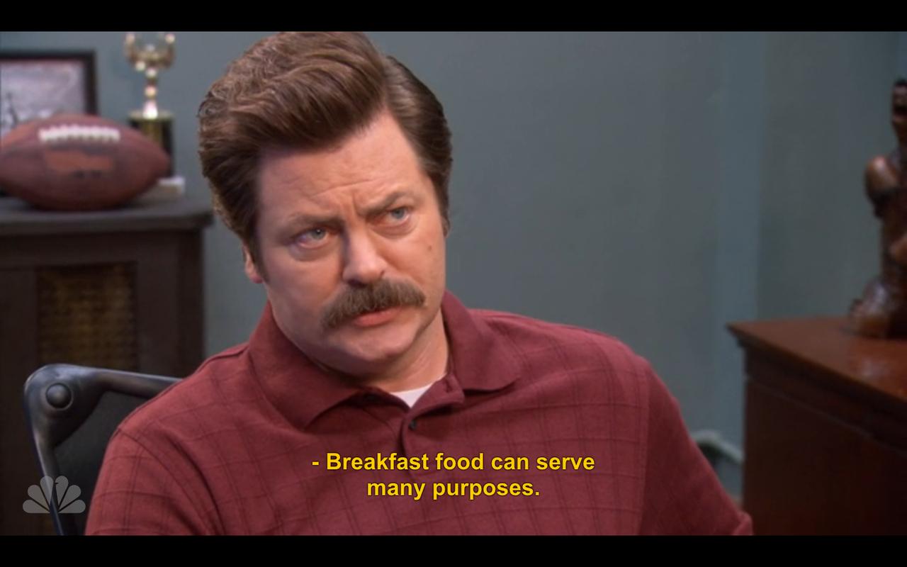 Ron Swanson Quotes Breakfast Quotesgram