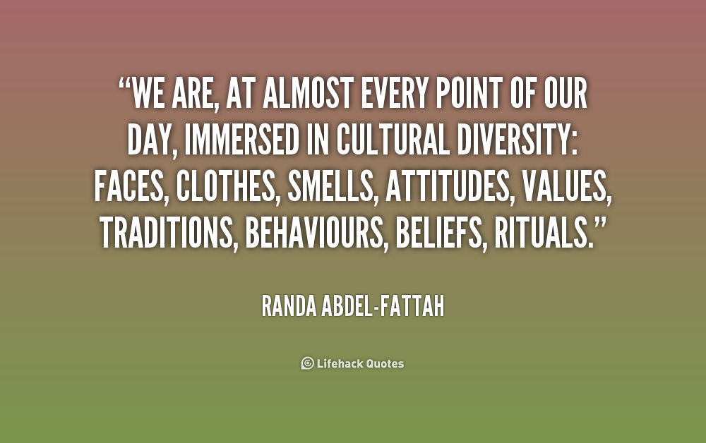 a better understanding of myself through diversity Cultural intelligence is someone's ability to adapt to different cultures and to understand people's values, beliefs, attitudes, and behaviors culturally intelligent people can then use this information to communicate, collaborate, and negotiate with people from diverse backgrounds.