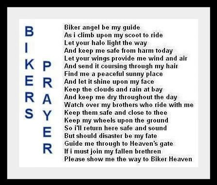 Biker Prayer Quotes Quotesgram