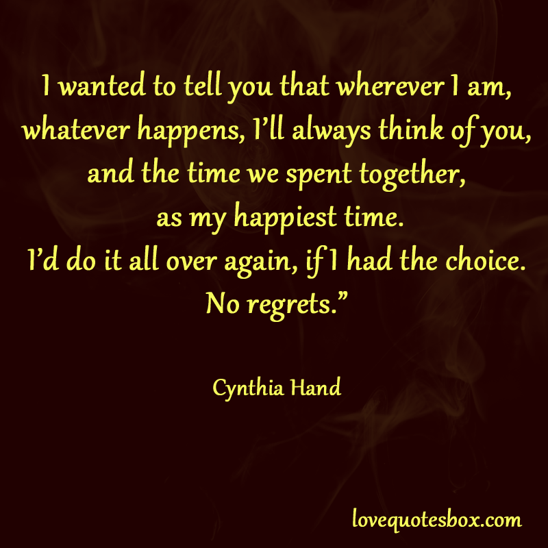 Quotes About Love With No Regrets. QuotesGram