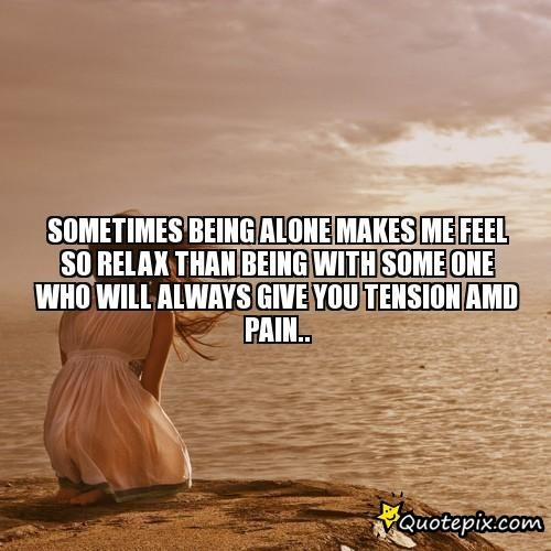 Saying Quotes About Sadness: Being Alone Sad Quotes. QuotesGram