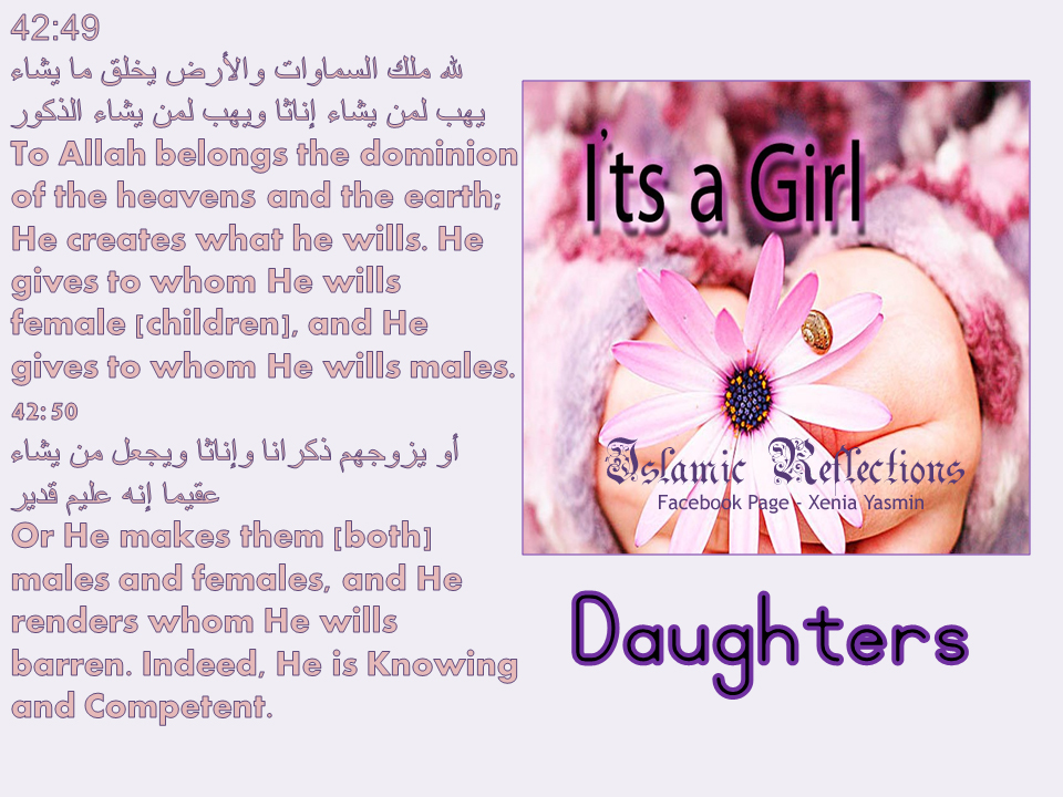 Image result for daughters in Islam