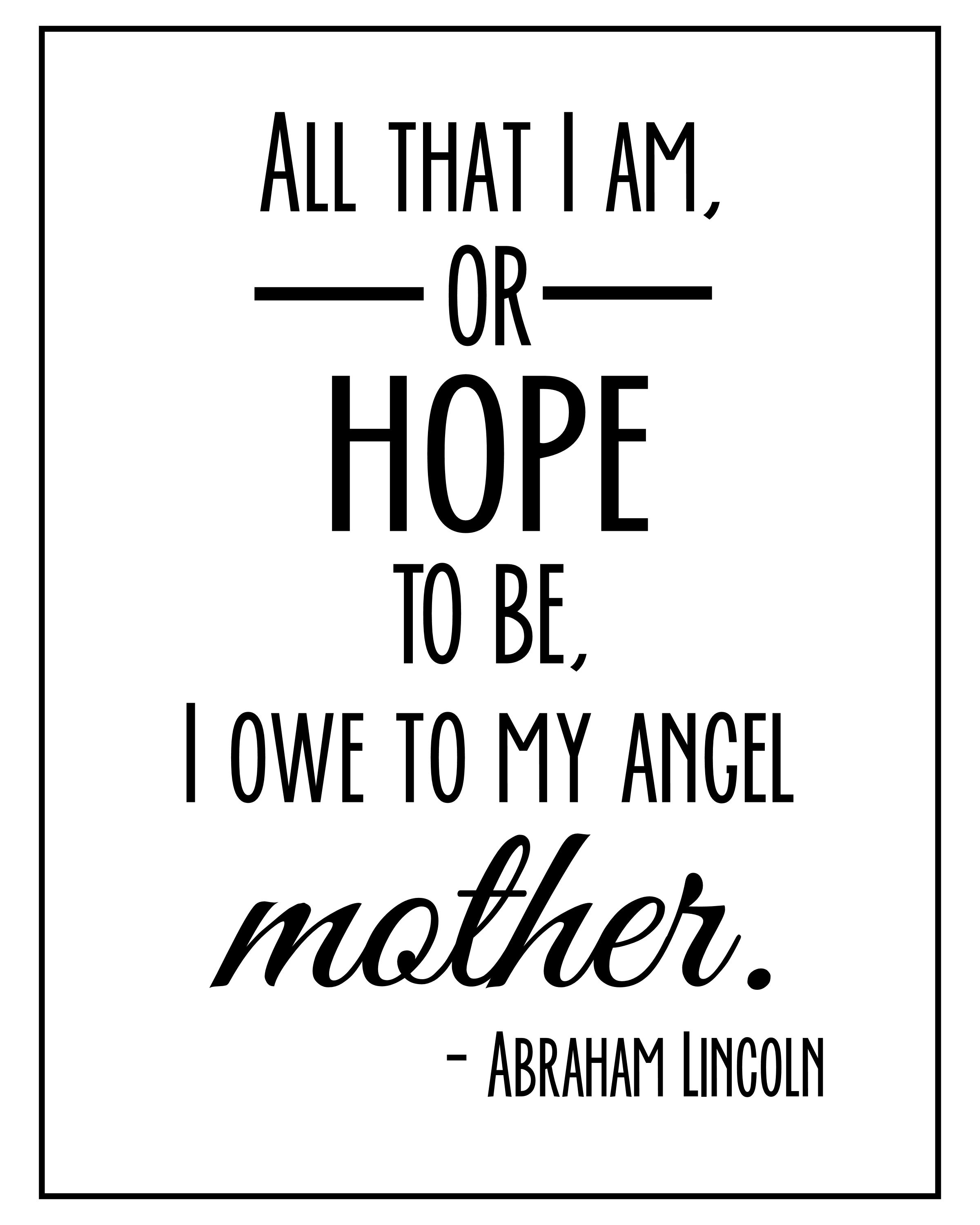 Quote About Mom: Printable Quotes From Daughter Mother. QuotesGram