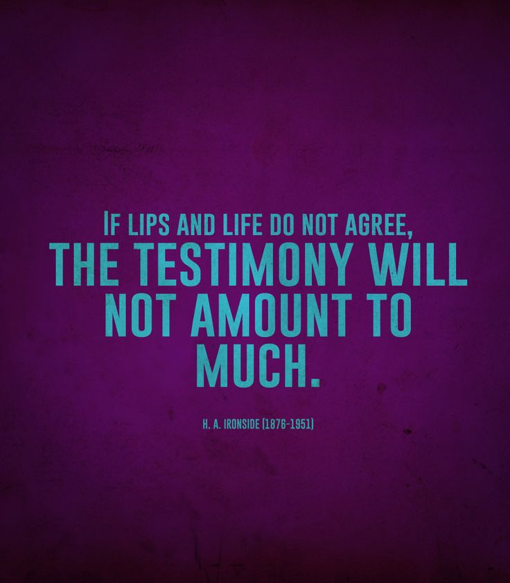 Quotes About Testimony  Quotesgram